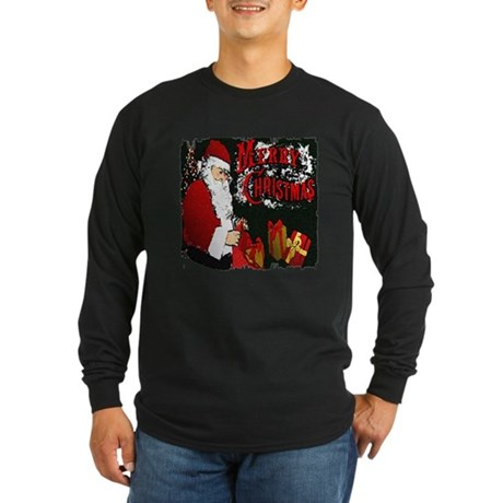 Merry Christmas Long Sleeve Dark T-Shirt