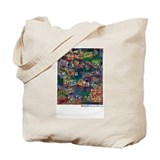 Ransom Note Art Quilt Tote Bag