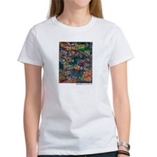 Ransom Note Art Quilt Tee