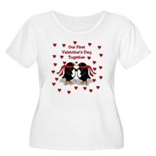 Penguins First Valentine's Day Together Plus Size