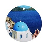 Santorini Ceramic Ornament (Christmas Ornament)