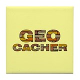 Geocacher Bricks Tile Coaster