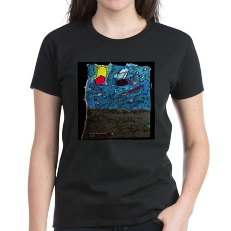 Two Asteroids Women's Dark T-Shirt