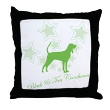 Black & Tan Coonhound Throw Pillow