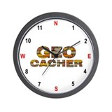 Geocacher Bricks Wall Clock