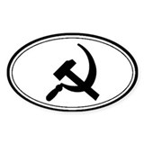 Black Hammer &amp; Sickle Oval Decal