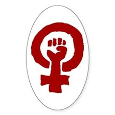 FEMINIST POWER Oval Decal