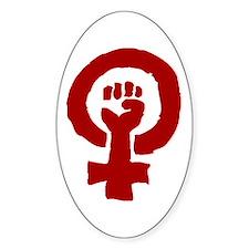 FEMINIST POWER Oval Decal