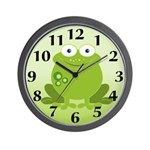 Green Frog Wall Clock