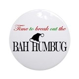 Bah Humbug Ornament (Round)