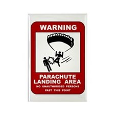 Cute Parachute landing fall Rectangle Magnet