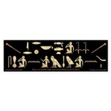 Honk If You Can Read Hieroglyphics Bumper Bumper Sticker