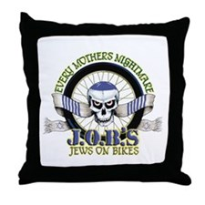 Jews on Bikes Throw Pillow