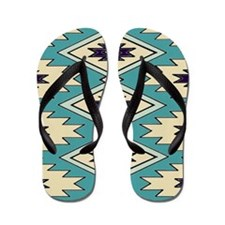 Native American Pattern Flip Flops