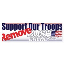 Support Our Troops REMOVE Bush Cheney 04