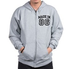 Made In 86 Zip Hoodie