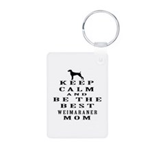 Keep Calm Weimaraner Designs Keychains