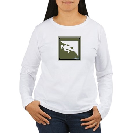Climbing Girl Icon Women's Long Sleeve T-Shirt