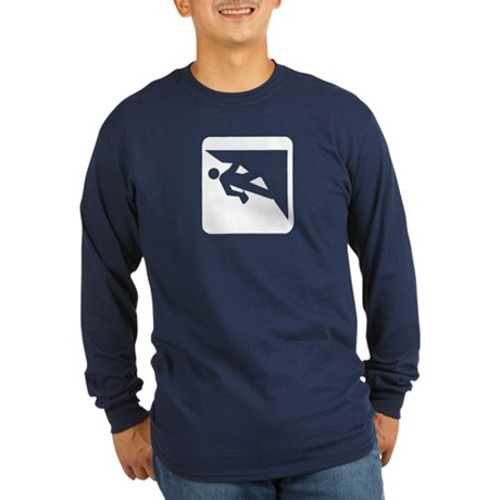 Climbing Guy Icon Long Sleeve Dark T-Shirt