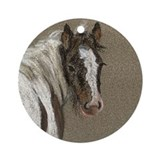 Gypsy Vanner Foal II Keepsake Ornament (Round)