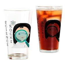 Girl Science Rocks Drinking Glass