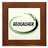Green Geocacher Pizzaz Framed Tile
