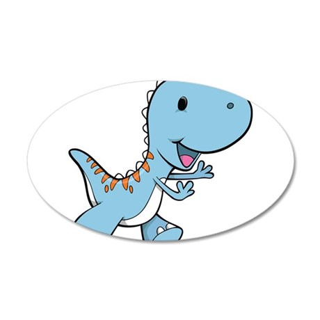 Running Baby Dino Wall Decal