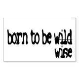 Born to be Wise Rectangle Decal