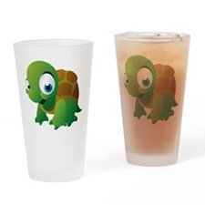 Cartoon Turtle Drinking Glass
