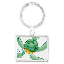Swimming Cartoon Turtle Keychains