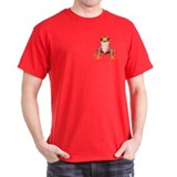 Red Eyed Tree Frog II Pocket Black T-Shirt
