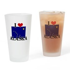 Alaska flag Drinking Glass