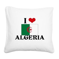 Algeria flag Square Canvas Pillow