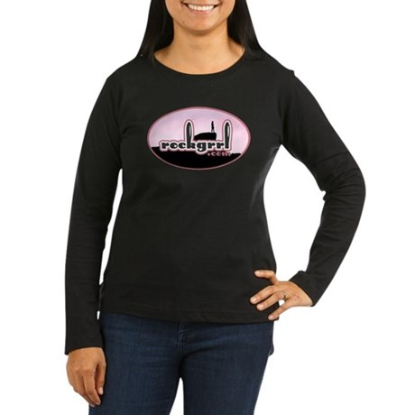 rockgrrl Women's Long Sleeve Dark T-Shirt