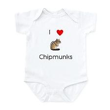I love chipmunks Infant Bodysuit