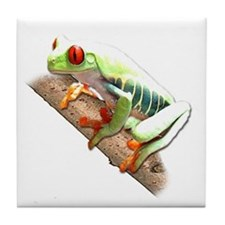 Red Eyed Tree Frog III Tile Coaster