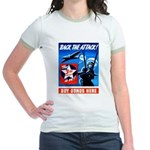 Back the Attack! Jr. Ringer T-Shirt