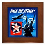 Back the Attack! Framed Tile