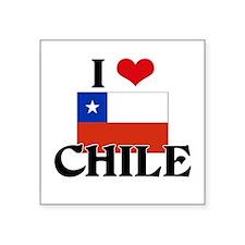 I HEART CHILE FLAG Sticker