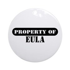 Property of Eula Ornament (Round)