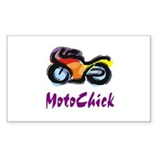 MotoChick Street Rectangle Decal