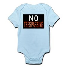 No Trespassing Onesie