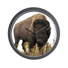 Bison Round Wall Clock