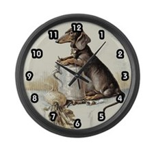 Daschund Large Wall Clock