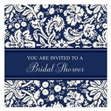 Blue and white wedding 5.25 x 5.25 Flat Cards