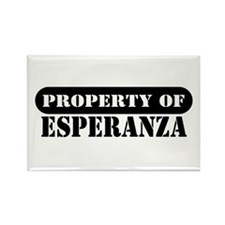 Property of Esperanza Rectangle Magnet (10 pack)