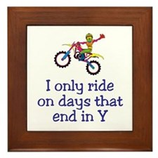 MotoChick Days Framed Tile
