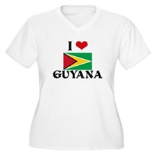I HEART GUYANA FLAG Plus Size T-Shirt