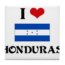 I HEART HONDURAS FLAG Tile Coaster