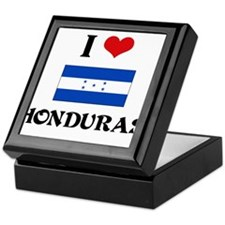 I HEART HONDURAS FLAG Keepsake Box